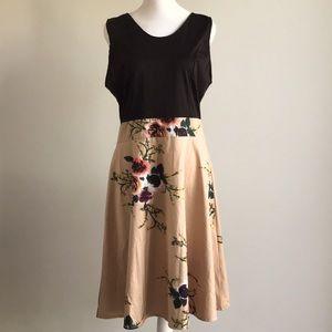 Floral dress with back zipper cotton XL